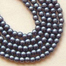 3mm Round Czech Glass Beads Saturated Metallic Niagara - 100